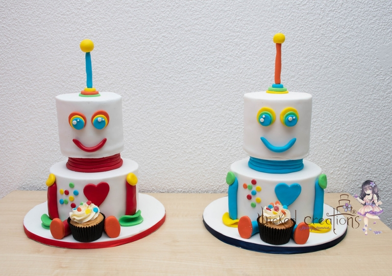 Twin Robot Cakes