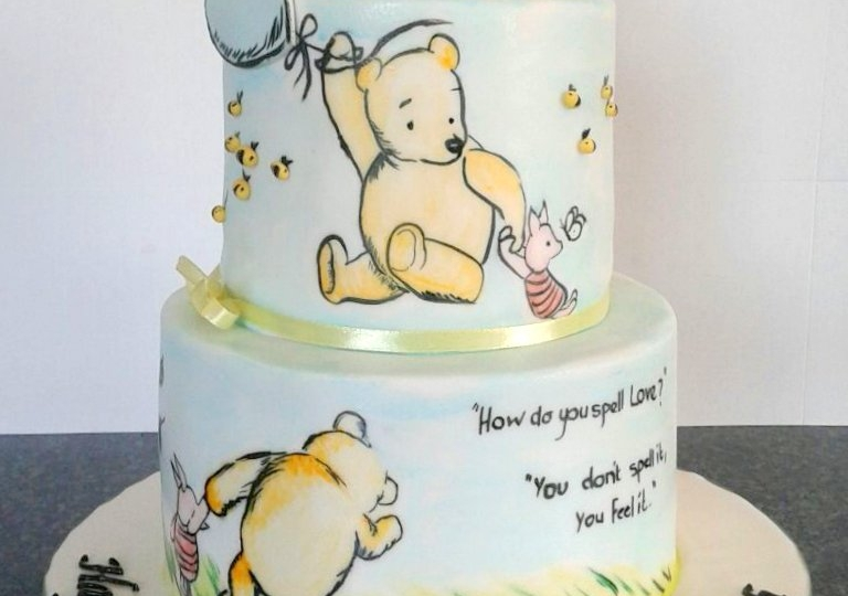 Hand Painted Pooh Cake