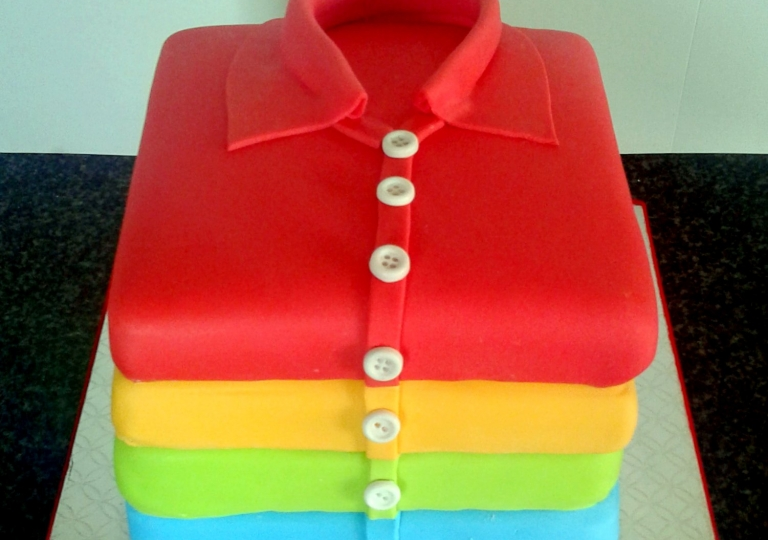 Stack of Shirts Cake
