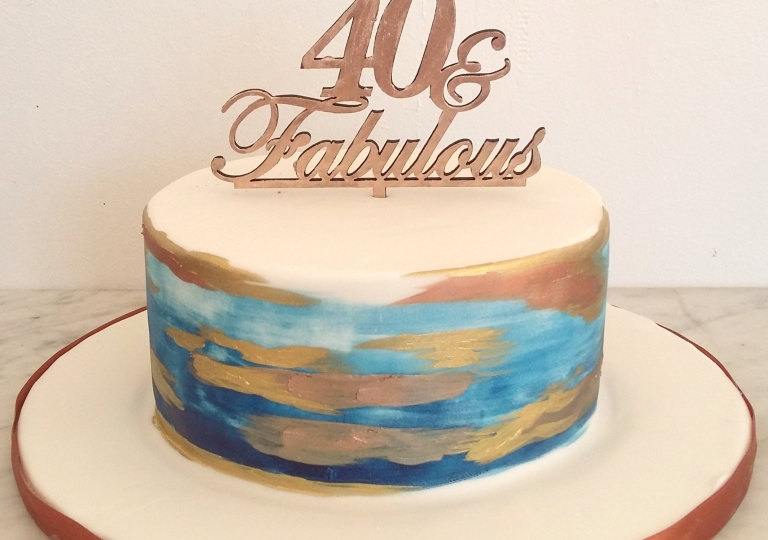 40 and Fabulous Cake