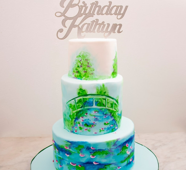 Water Lilies Cake