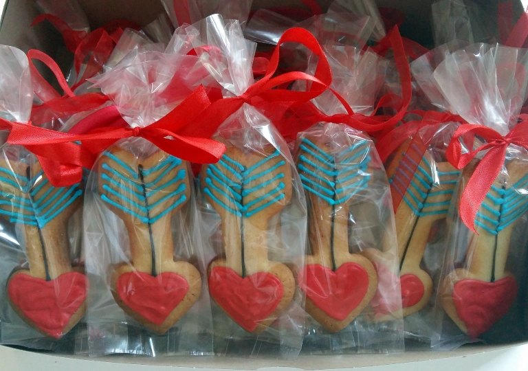Heart Arrow Cookies