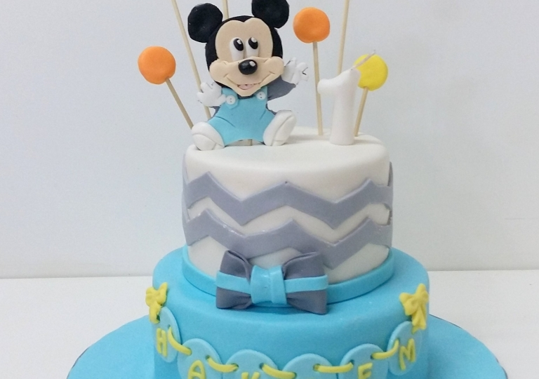 Remarkable Gallery Category Baby Shower Cakes Image Baby Mickey Mouse Cake Personalised Birthday Cards Sponlily Jamesorg