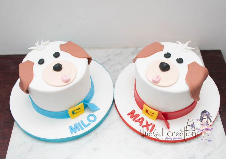Twin Puppy Cakes