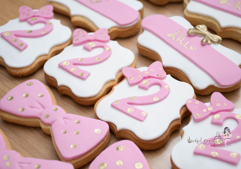 Pink & White Cookies